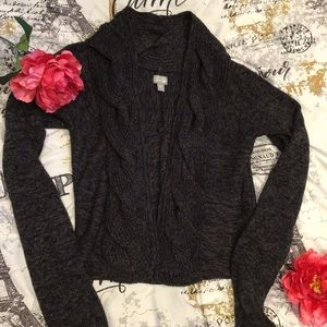 Converse One Star Braided Open Cardigan Sweater